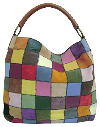 Lucky Brand Medium Slouch Patch Hobo,Multi,one size