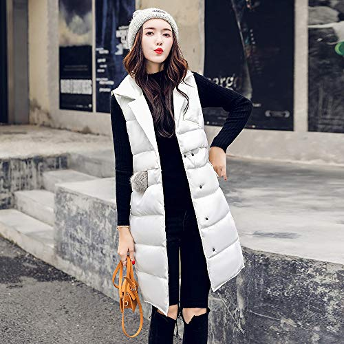 Quilted Parka Classic Fleece White Coat Slim Jacket Warm Padded Vest Cardigan Women Trench vpass Overcoat Winter Cotton Fit Outerwear Thicker qRW0zw