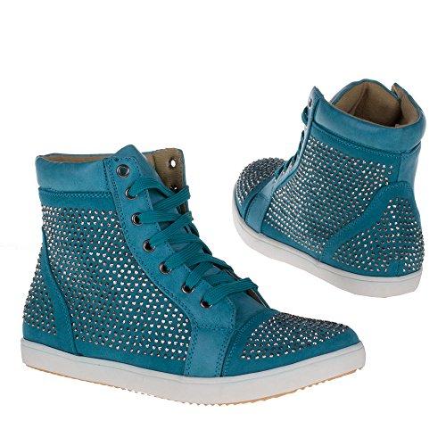 Ital-Design - Caña baja de material sintético mujer Blau BL1593