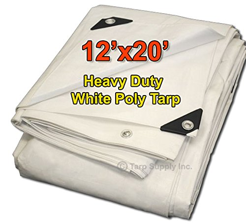 Tarpsupply 12'x20' Heavy Duty 12 By 12 Cross Weave 10 Mil...