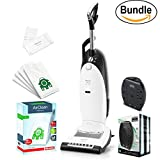New Miele Dynamic U1 Cat and Dog Upright Vacuum, Lotus White - Corded, ReVIVE Rapid Dual USB 6 Outlet Wall AC Adapter, & 10123230 AirClean 3D Efficiency Dust Bag, Type U, 4 Bags & 2 Filters (Bundle)