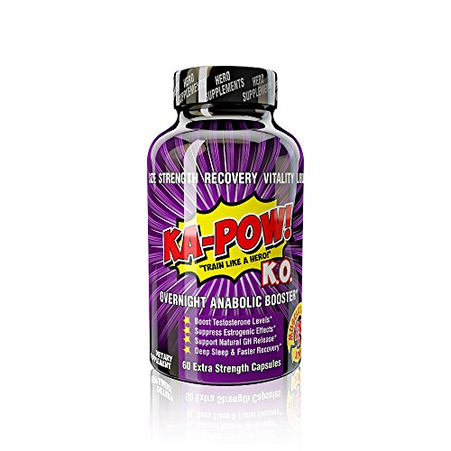 Overnight Testosterone Booster for Men - KA-POW! KO The Ultimate Natural Test Boosting Sleep Aid Supplement - Maximize Workouts, Build Massive Muscle, Reduced Estrogen, Accelerate Muscle - Testosterone Maximize
