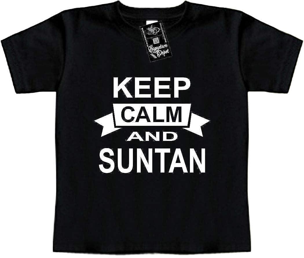 Vacation Beach Toddler Tee Keep Calm and Suntan Signature Depot Funny Baby T-Shirt
