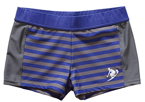BeautyIn Little Boys' Stretchy Swimming Trunks/Swimsuits Grey,7-8 Years