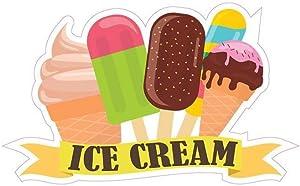 Ice Cream Concession Decal Sign Restaurant Dessert Station Food Truck Vinyl Sticker 10 inches