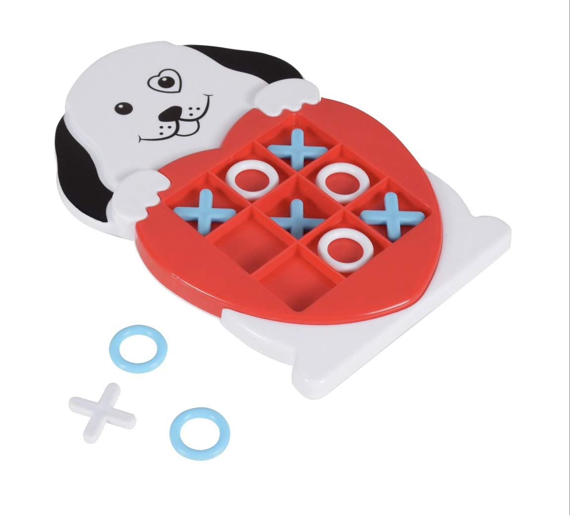 Dog /& Bear Valentines 2 Piece Plastic Animal Tic Tac Toe Games Greenbrier International