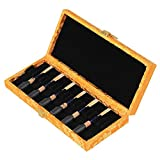 Surfing 210x90x30mm Yellow Oboe Reed Case hold for 20pcs Reeds Wood Box