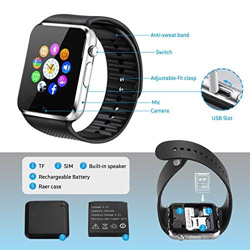 fdf9e254b3f Fantime Smart Watch Phone Bluetooth SIM Smartwatch Touch Screen Wrist Watch  Support Hands-free Making calls Pedometer  Sleep ...