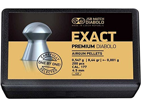 JSB Exact Premium Diabolo, .177 Cal, 8.44 Grains, Domed, 200ct