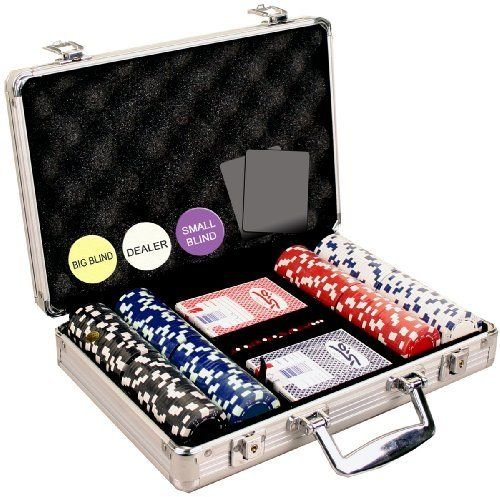 Professional Set Kit of 200 Poker texas Hold'em Chips Great Gift by SM