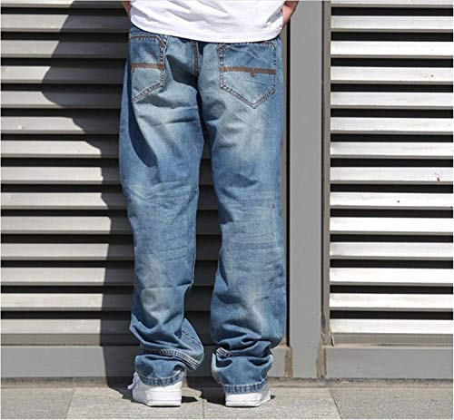 Men Pantalones Pantalones Baggy Pants Denim para Slim Fashion Jeans Dancing Soft Jeans Casual Fit Colour Vintage Hombre Hop Hip Vaqueros qwxqzrC6OU