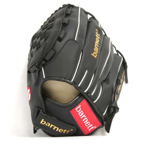 JL-120 Vinyl baseball glove, Outfield, size 12', Black (RH – Right for left-handers) (Vinyl Mitt)