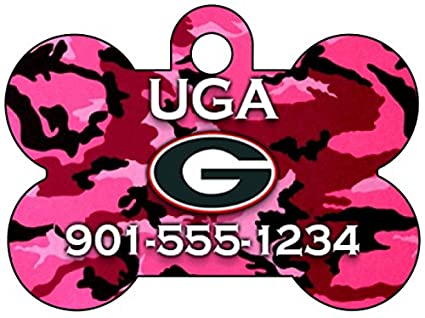f1dc1bc91 Amazon.com   NCAA Camo Pink Pet Id Tag for Dogs   Cats Personalized ...