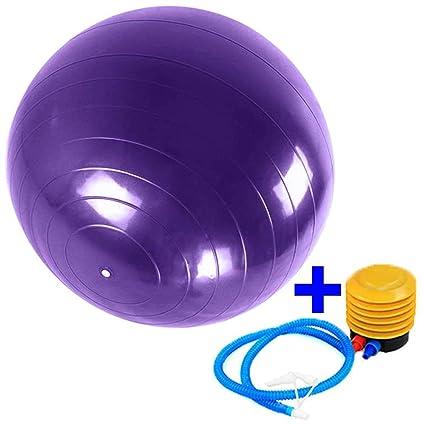Ociodual Pelota Balon Gym Ball para Deporte Gimnasia Yoga Pilates Abdominales 65 cm for Fitness Core Exercise+Pump