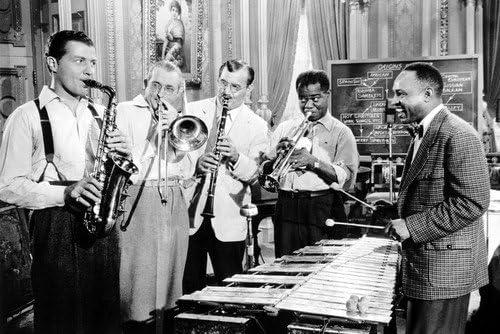 Louis Armstrong Tommy Dorsey Benny Goodman Lionel Hampton 24X36 Poster Rare 51VPBw55ytL