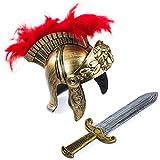 Tigerdoe Roman Soldier - Helmet & Sword - Gladiator Costume - Spartan Costume - Costumes for Kids - 2 Pc Set