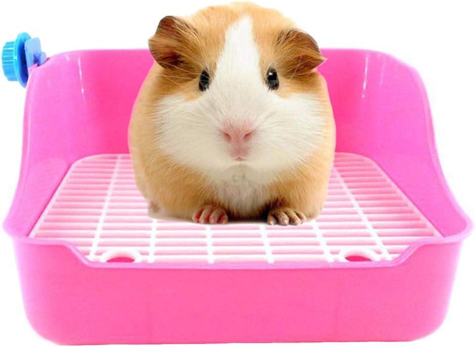 kathson Small Animal Litter Cage Potty Trainer Corner Litter Bedding Box Pet Pan Toliet Rectangular Plastic Material for Rabbit,Bunny,Galesaur,Ferret,Guinea Pig,Hamster(Random Color)