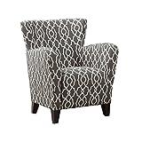Cheap Monarch Specialties Grey/Beige Wave Fabric Club Chair, 35-Inch