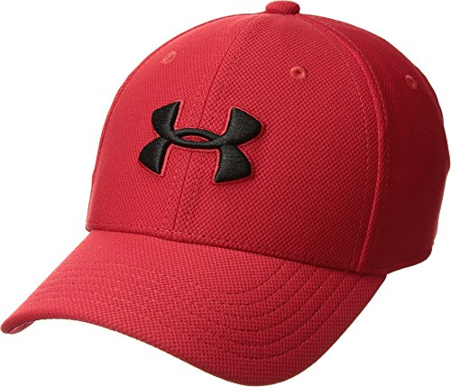 Under Armour Boy's Blitzing 3.0 Cap, Red (600)/Black, Youth Small/Medium (Hat Kids Armour Under)