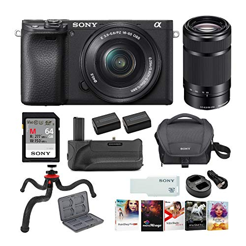 Sony a6400 Mirrorless Digital Camera with 16-50mm and 55-210mm Lenses Ultimate Bundle