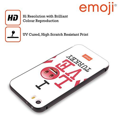 Officiel Emoji La Turquie J'aime Mon Pays Noir Étui Coque Aluminium Bumper Slider pour Apple iPhone 5 / 5s / SE