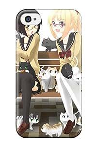 Muriel Alaa Malaih's Shop original anime cats kittens girls Anime Pop Culture Hard Plastic iPhone 4/4s cases 5748746K874378418