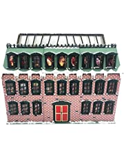 Baiko Christmas Advent Calendar, Glowing Snow House with 24 Switchable Windows, Wooden