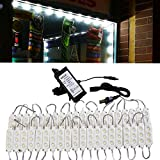 20ft Storefront Super Bright Pure White LED Light 5630 series with UL 12v 3A Power Driver