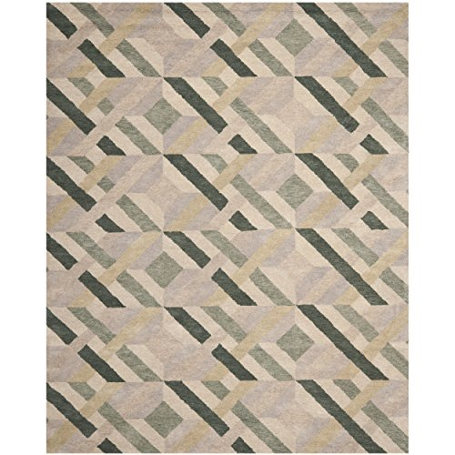 Safavieh Wyndham Collection WYD615A Handmade Ivory and Multi Wool Area Rug, 8 feet by 10 feet (8' x 10') by Safavieh
