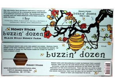 Clover Sweet Honey (Buzzin' Dozen Honey Stick, Pure Sweet Clover - Box of 12 (Pack of 4) by Black Hills Honey Farm)