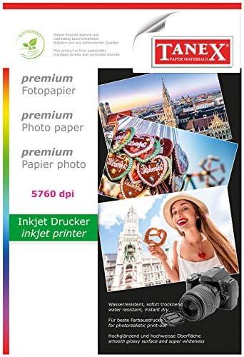 TANEX Fotopapier hochglänzend 180g, 10 Blatt DIN A4