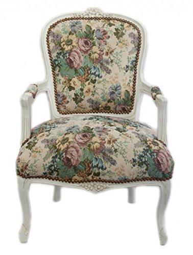 Casa-Padrino Silla Barroco Salón de diseño Floral/Blanco ...