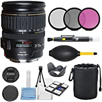 Canon EF 28-135mm f/3.5-5.6 IS USM Standard Zoom Lens for Canon SLR Cameras with 3pc Filter Kit (UV, CPL, FLD) + Pouch + Lens Hood + Deluxe Cleaning Kit - International Version