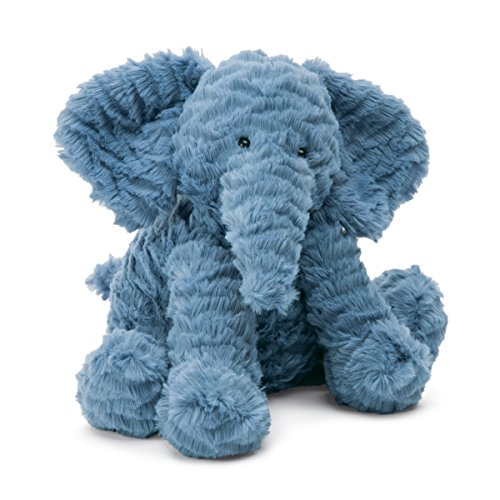 Blue Elephant Stuffed Animal (Jellycat Fuddlewuddle Elephant Stuffed Animal, Medium, 9)