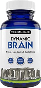 Stonehenge Health Dynamic Brain Supplement – Memory, Focus, & Clarity– Formulated with 41 Unique Nootropic Ingredients Including Phosphatidylserine, Bacopa Monnieri, and Huperzine A (1 Pack)