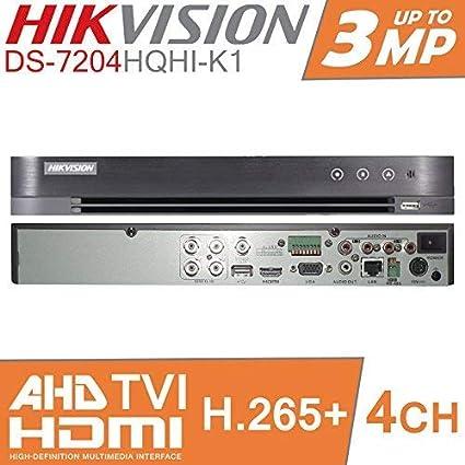 NO HDD HIKVISION TURBO HD DVR 4CH CHANNEL CCTV DIGITAL VIDEO RECORDER TVI DS-7204HQHI-K1