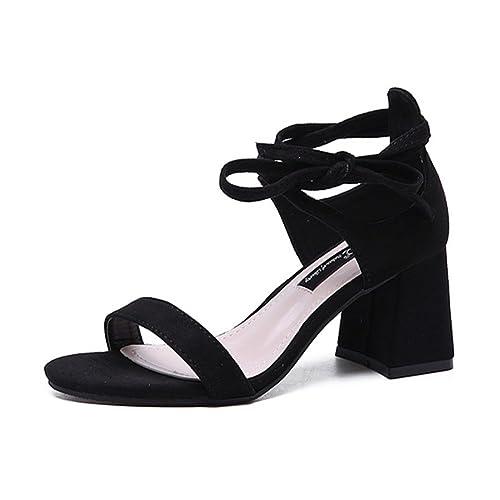 Chaussures À Talons De Sangle Cheville Sandales Gros Chic Femme F1lcTKJ