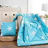 HOMEE Cotton Quilts Pillow Cushion the Pillow Sofa Office Car Pillows Cool in the Summer is Thick-,5050, Annecy Time,Star,5050