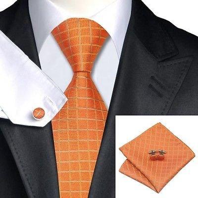 Jason Designer (N0464 Jason Vogue 100% Pure Luxury Silk Italy Designer Hand Made Tie-Handkerchief-cufflinks Gift Box)