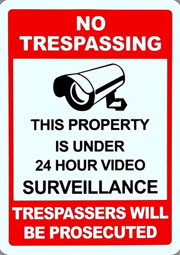 1-Pc Great Popular No Trespassing Yard Signs Lawn Property Warning Message Being Watched Size 10