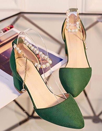 Mode Vert Chaussures Aisun pour Perles Mariée Pointu Bout Escarpins Femme Bax4T