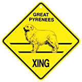 Great Pyrenees Xing caution Crossing Sign dog Gift