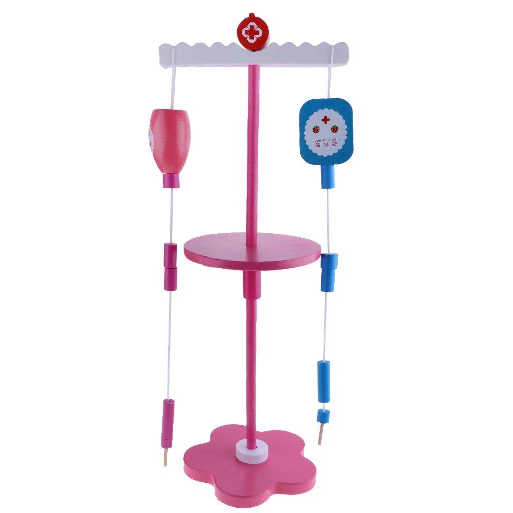 D DOLITY Mini Holz Infusion Arzt Werkzeug für Kinder Dokotor oder Krankenschwester Rollenspiel Spaß