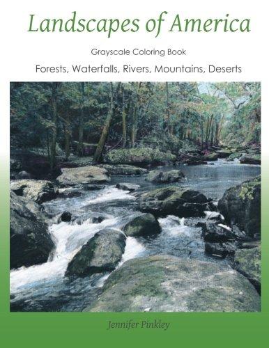 Landscapes of America: a grayscale coloring book pdf epub