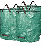 Sunwin 72 Gallons Garden Waste Bags Pack of 3 Reuseable Heavy Duty Gardening Bags Lawn Pool Garden Leaf Bag