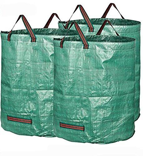 Sunwin 72 Gallons Garden Waste Bags Pack of 3 Reuseable Heavy Duty Gardening Bags Lawn Pool Garden Leaf Bag by Sunwin