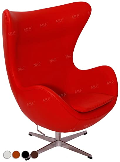 Beau MLFu0026reg; Arne Jacobsen Egg Chair In Top Red Aniline Leather