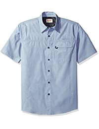 Wrangler Mens Authentics Short Sleeve Woven Utility Shirt