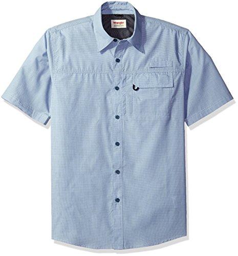 Wrangler - Camisa con Botones, Hombres, Multicolor/fantasía (Cowhide Micro Check), Grande