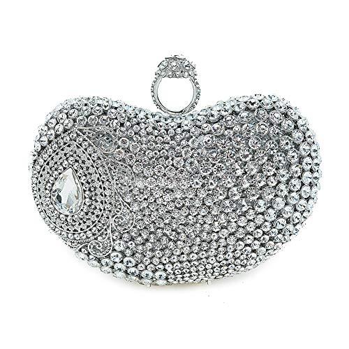 Main d'embrayage Poche À De Main Sac De À Diamant KOKR Sac Silver gEqpvw8g